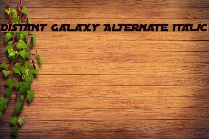 Distant Galaxy Alternate Italic Font examples