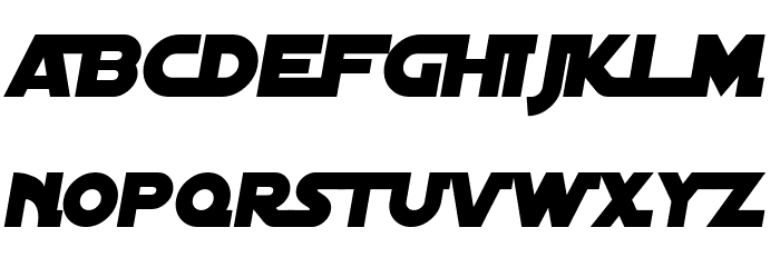 Distant Galaxy Alternate Italic Font LOWERCASE