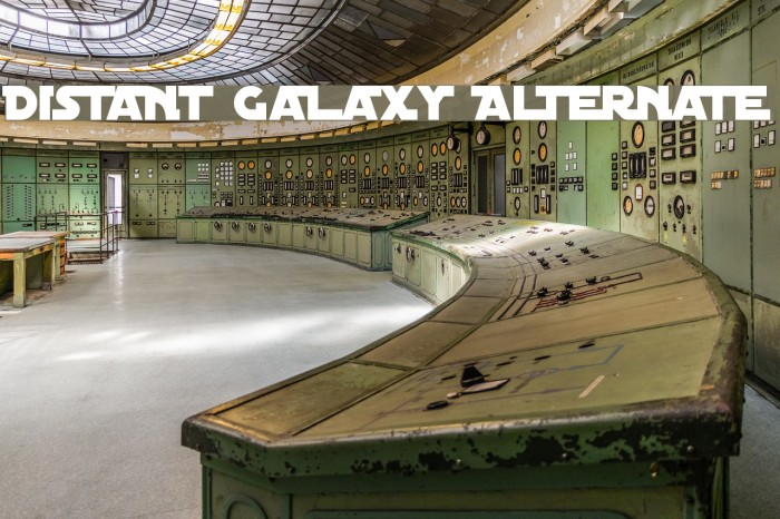 Distant Galaxy Alternate Fonte examples
