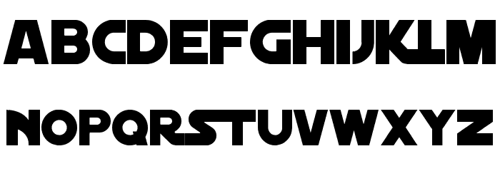 Distant Galaxy Solid Font UPPERCASE