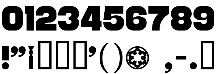 Distant Galaxy Font OTHER CHARS