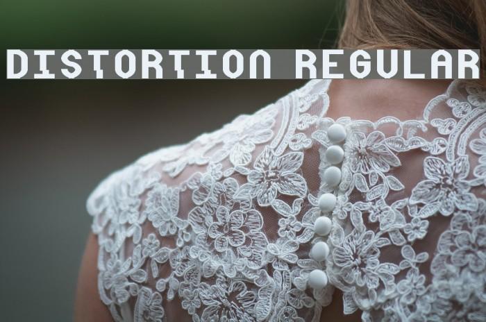 Distortion Regular 字体 examples