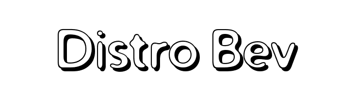 Distro Bev  フリーフォントのダウンロード