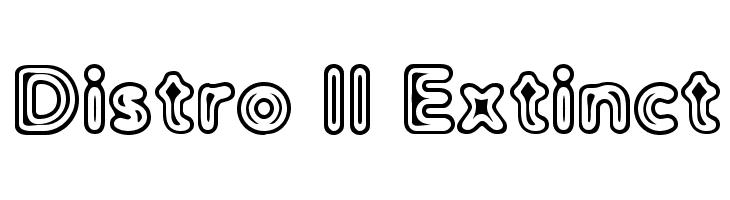 Distro II Extinct  Free Fonts Download