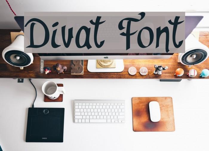 Divat Schriftart examples