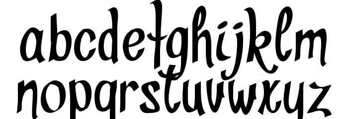 Divat Schriftart Kleinbuchstaben
