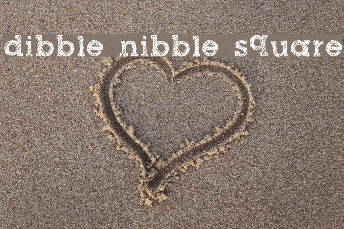 dibble nibble square Caratteri examples