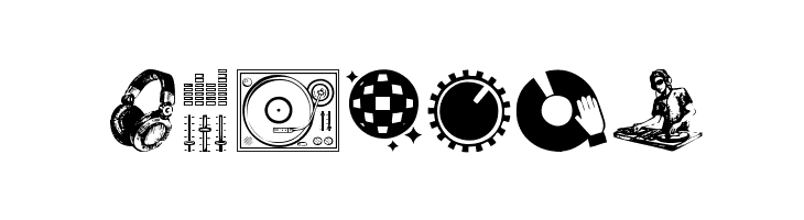 DJ Icons  Free Fonts Download