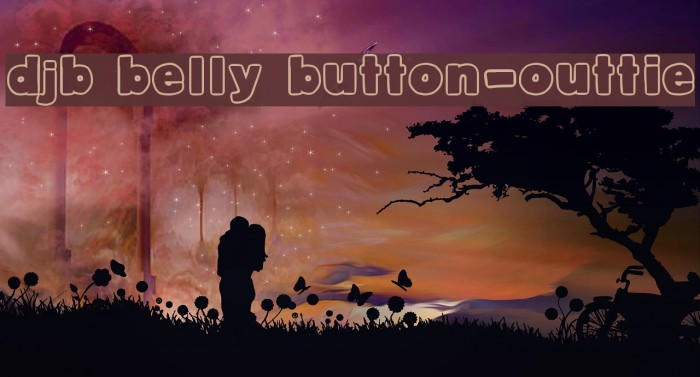 DJB Belly Button-Outtie Font examples