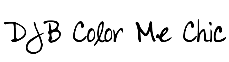 DJB Color Me Chic  नि: शुल्क फ़ॉन्ट्स डाउनलोड