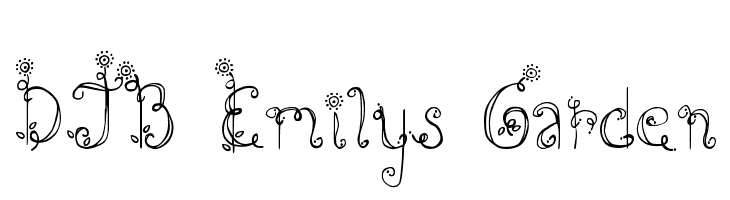 DJB Emilys Garden  Free Fonts Download