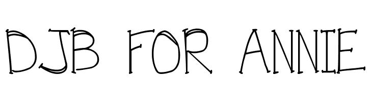 DJB FOR ANNIE  नि: शुल्क फ़ॉन्ट्स डाउनलोड