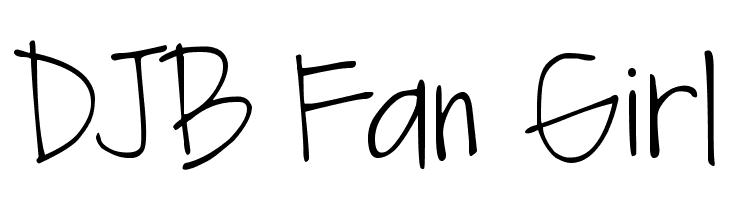 DJB Fan Girl  Descarca Fonturi Gratis