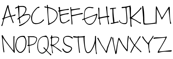 DJB Fan Girl Font UPPERCASE