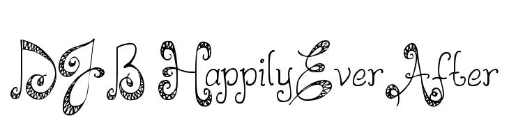 DJB HappilyEverAfter  Free Fonts Download