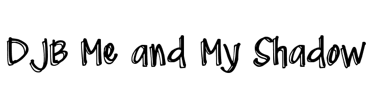 DJB Me and My Shadow  Free Fonts Download