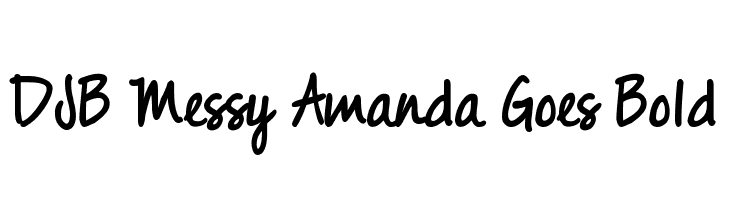 DJB Messy Amanda Goes Bold  les polices de caractères gratuit télécharger