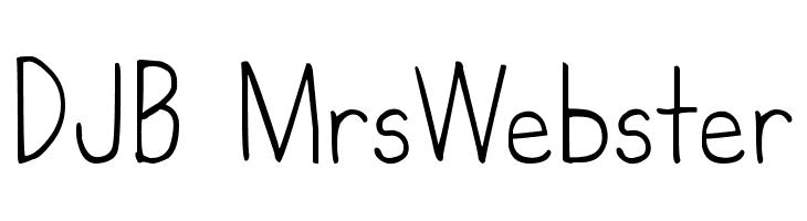 DJB MrsWebster  Скачать бесплатные шрифты