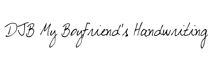 DJB My Boyfriend's Handwriting  Free Fonts Download