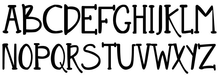 DJB Nouveau Straight फ़ॉन्ट अपरकेस