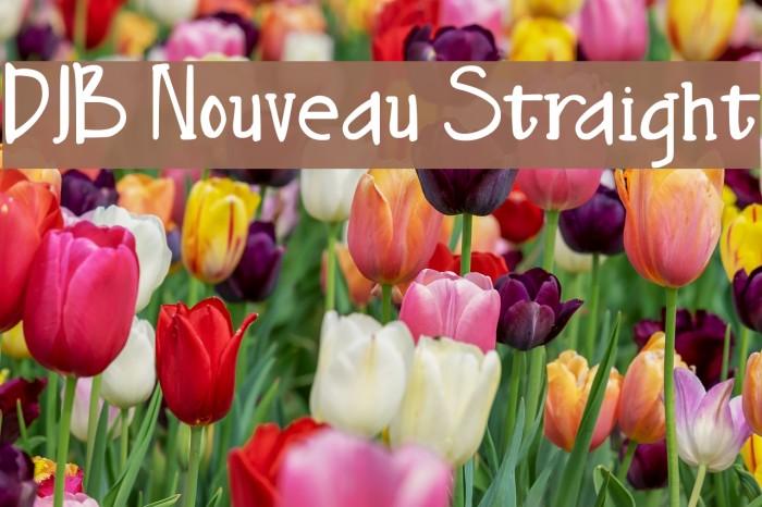 DJB Nouveau Straight फ़ॉन्ट examples
