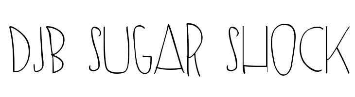 DJB SUGAR SHOCK  Free Fonts Download