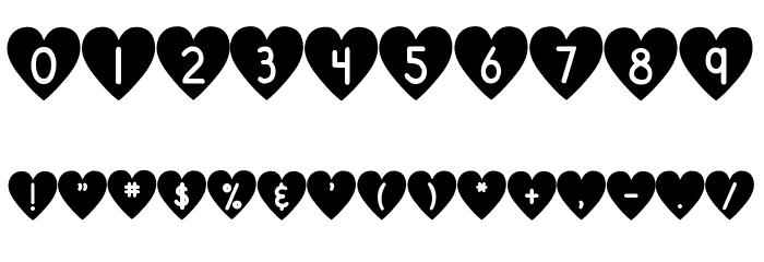 DJB Shape Up Hearts Font OTHER CHARS