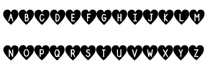 DJB Shape Up Hearts Font UPPERCASE