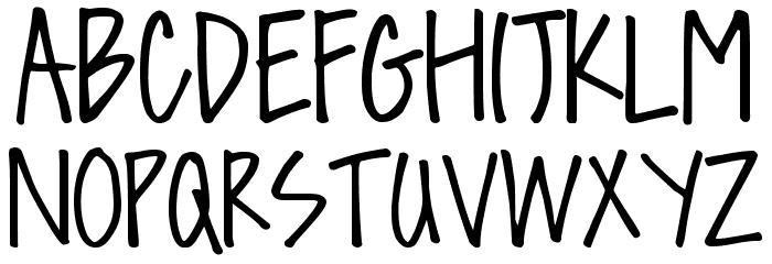DJB Sissy Font UPPERCASE
