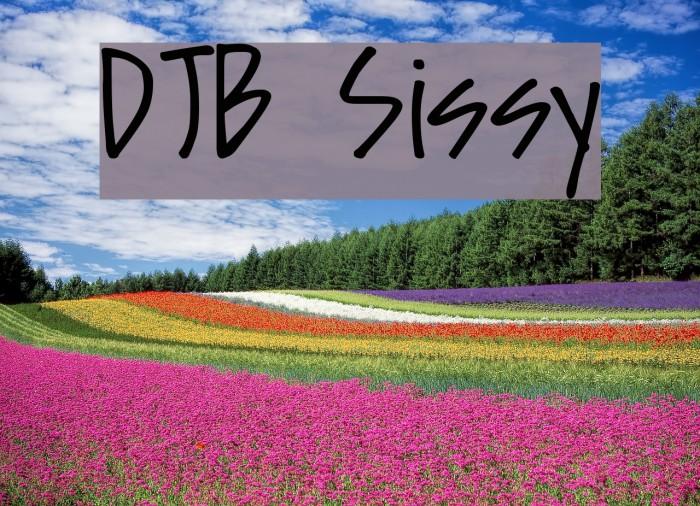 DJB Sissy Font examples