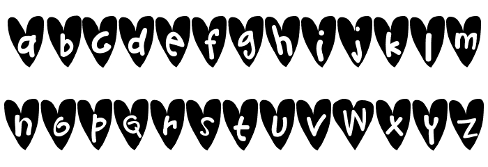 Djellibejbi Font LOWERCASE