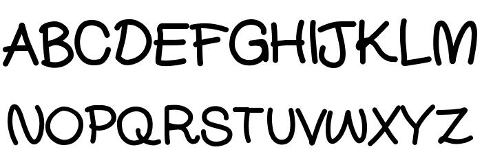 DjuiceWriting Font UPPERCASE