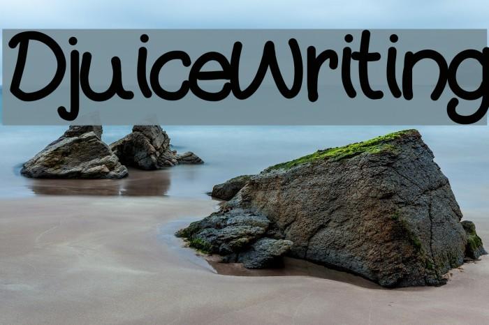 DjuiceWriting Font examples