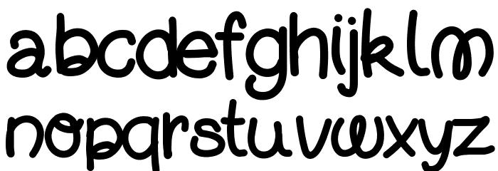 DjuiceWriting Font LOWERCASE