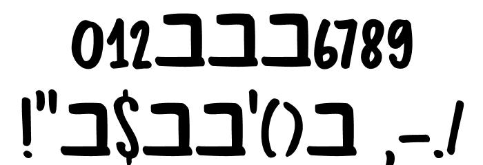 DK Bupkis Regular フォント その他の文字