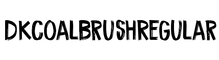 DK Coal Brush Regular Шрифта