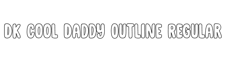 DK Cool Daddy Outline Regular Font - free fonts download