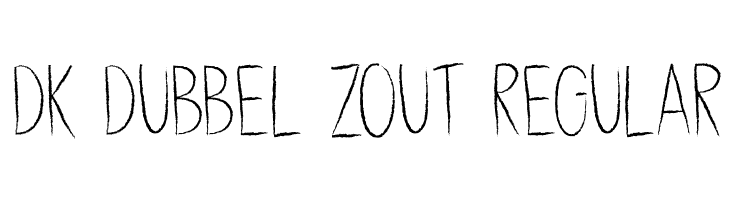 DK Dubbel Zout Regular Caratteri