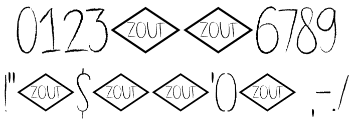 DK Dubbel Zout Regular フォント その他の文字