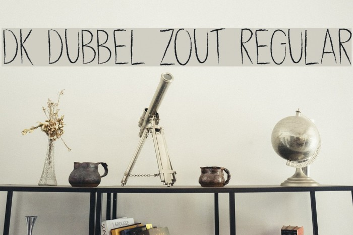 DK Dubbel Zout Regular フォント examples