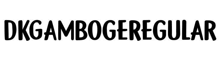 DK Gamboge Regular  नि: शुल्क फ़ॉन्ट्स डाउनलोड