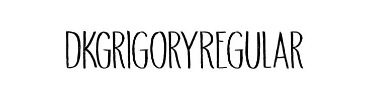 DK Grigory Regular Caratteri