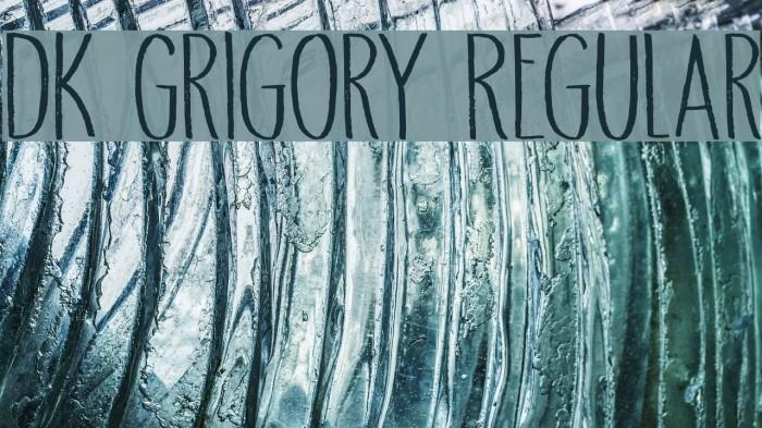 DK Grigory Regular Caratteri examples