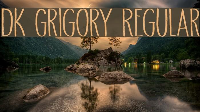 DK Grigory Regular Font examples