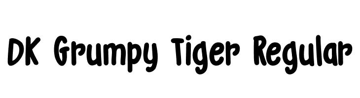 DK Grumpy Tiger Regular  Free Fonts Download