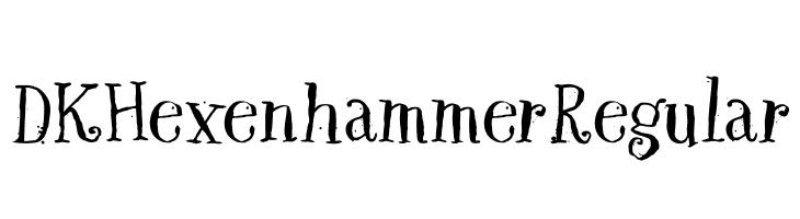 DK Hexenhammer Regular  les polices de caractères gratuit télécharger