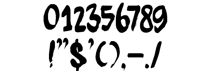 DK Kitsune Tail Regular Font OTHER CHARS