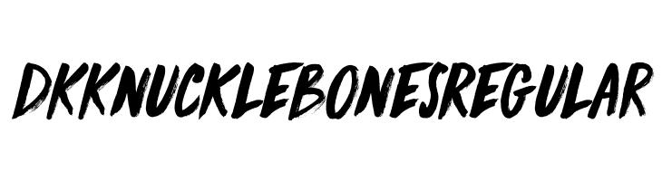 DK Knucklebones Regular Fuentes
