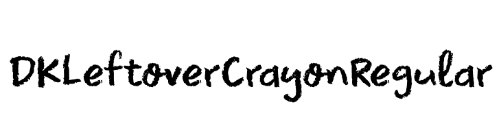 DK Leftover Crayon Regular لخطوط تنزيل