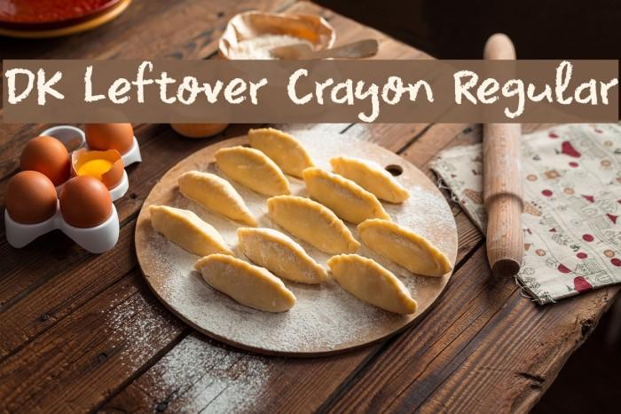 DK Leftover Crayon Regular لخطوط تنزيل examples